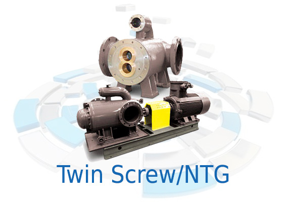 The S Series (NTG) Twin Screw Pumps transfer lubricating fluids with higher viscosities, such as bitumen and residual oil, at medium or high temperatures.