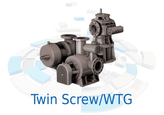 The axial pressure on the S Series (WTG) Twin Screw Pumps' hydraulic components is balanced automatically with no metal contact between the hydraulic parts.