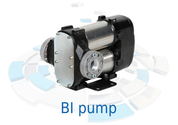 Displacement, self-priming, rotary electric vane pumps for transferring diesel fuel, characterized by high flow rates.